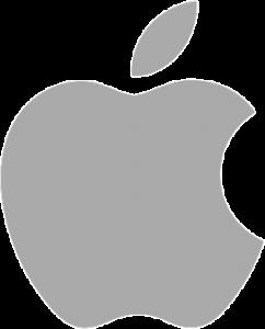 Apple grey apple logo