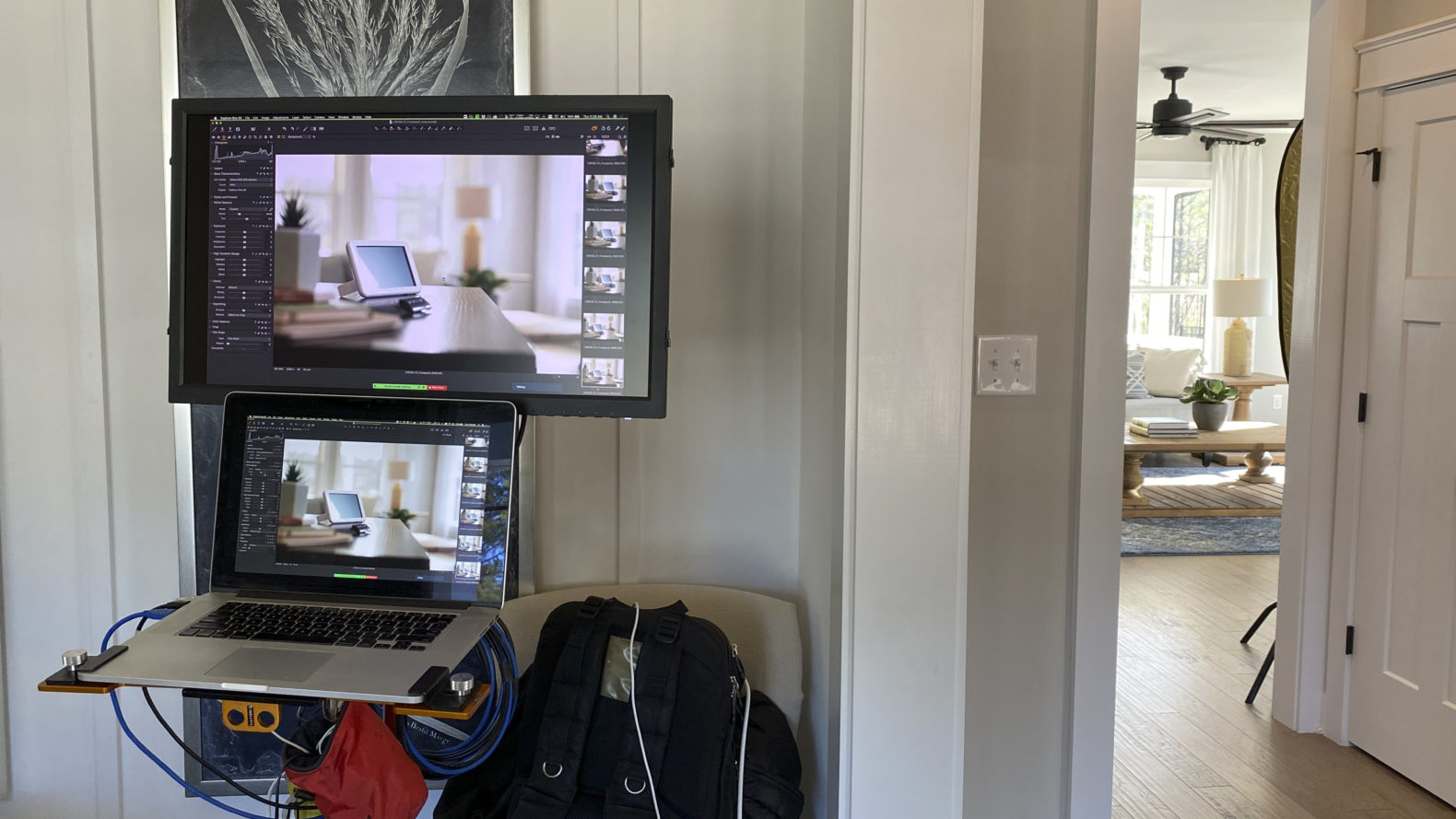 photography equipment and technology in a home setting